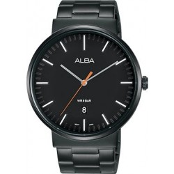 Alba 43mm Analog Gents Metal Watch (AS9G09X1) - Black