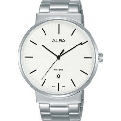 Alba 43mm Analog Gents Metal Watch (AS9G17X1) - Silver