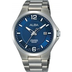 Alba 41mm Analog Gents Metal Watch (AS9G27X1) - Silver
