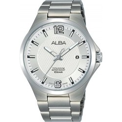 Alba 41mm Analog Gents Metal Watch (AS9G29X1) - Silver