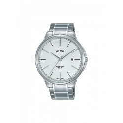 Alba 42.5mm Analog Gents Metal Watch (AS9G35X1) - Silver