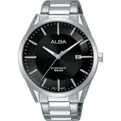 Alba 41mm Analog Gents Metal Watch (AS9G45X1) - Silver