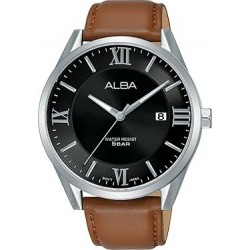 Alba 41mm Analog Gents Leather Watch (AS9G51X1) - Brown