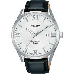 Alba 41mm Analog Gents Leather Watch (AS9G53X1) - Black