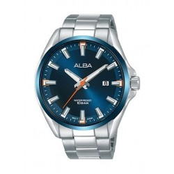 Alba Quartz 44mm Analog Gent's Metal Watch - AS9G75X1