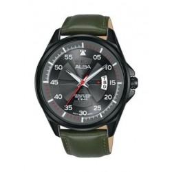 Alba Quartz 44mm Analog Gent's Leather Watch - AS9G95X1