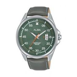 Alba Quartz 44mm Analog Gent's Leather Watch - AS9G97X1