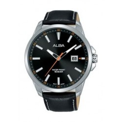 Alba Quartz 44mm Analog Gent's Leather Watch - AP6621X1