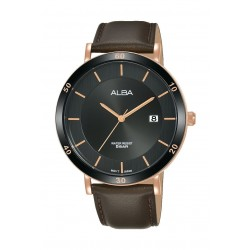Alba 42mm Analog Gents Leather Watch - AS9H72X1