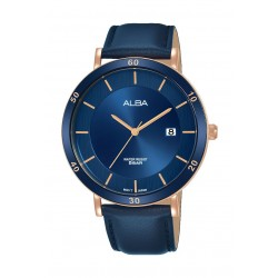 Alba 42mm Analog Gents Leather Watch - AS9H76X1