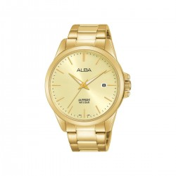 Alba 41mm Analog Gents Metal Watch (AS9J02X1) - Gold