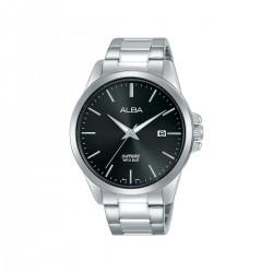Alba 41mm Analog Gents Metal Watch (AS9J07X1) - Silver