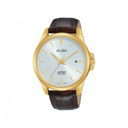 Alba 41mm Analog Gents Leather Watch (AS9J12X1) - Brown
