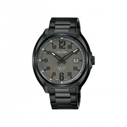 Alba 42mm Analog Gents Metal Watch (AS9J29X1) - Black
