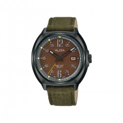 Alba 42mm Analog Gents Fabric Watch (AS9J39X1) - Dark Green