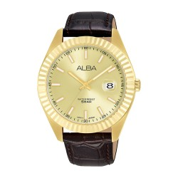 Alba 42mm Analog Gents Leather Casual Watch -  (AS9K04X1)