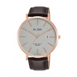 Alba 42mm Gent's Analog Leather Casual Watch - (AS9K16X1)