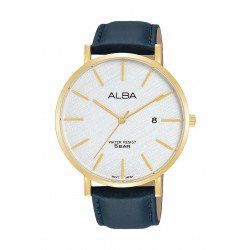 Alba 42mm Gent's Analog Leather Casual Watch - (AS9K18X1)