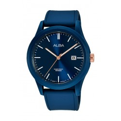Alba 42mm Gent's Analog Silicon Sports Watch - (AS9K31X1)