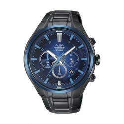 Alba Gents Chronograph 46 mm Sports Watch (AT3C01X1) - Black