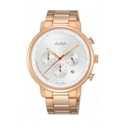 Alba Quartz 42.5mm Chronograph Gent's Metal Watch (AT3D52X1) - Rose Gold