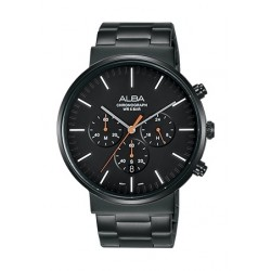 Alba 43mm Chronograph Gents Metal Watch (AT3E23X1) - Black