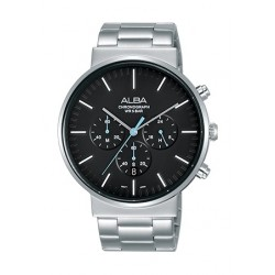 Alba 43mm Chronograph Gents Metal Watch (AT3E27X1) - Silver