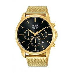 Alba Quartz 43mm Chronograph Gent's Metal Watch - AT3E42X1