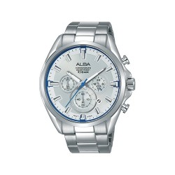 Alba 44mm Chronograph Gents Metal Watch (AT3E59X1) - Silver