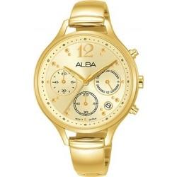 Alba 36mm Analog Ladies Metal Watch (AT3E98X1) - Gold