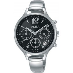 Alba 36mm Analog Ladies Metal Watch (AT3F03X1) - Silver
