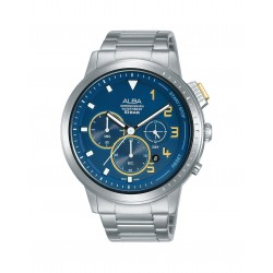 Alba 44mm Chronograph Ladies Gents Casual Watch (AT3F33X1)