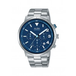 Alba 43mm Chronograph Gents Metal Watch (AT3F49X1)