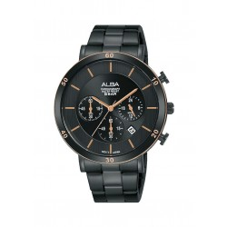 Alba 42mm Chronograph Gent's Metal Watch (AT3F60X1) - Black