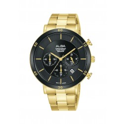 Alba 42mm Chronograph Gent's Metal Watch (AT3F62X1) - Gold
