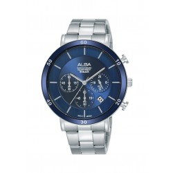 Alba 42mm Chronograph Gent's Metal Watch (AT3F65X1) - Silver
