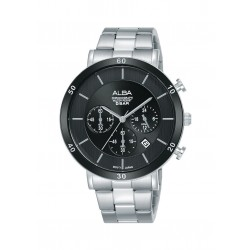 Alba 42mm Chronograph Gent's Metal Watch (AT3F67X1) - Silver