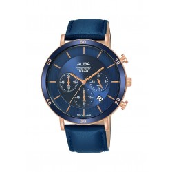 Alba 42mm Chronograph Gents Leather Casual Watch (AT3F72X1)