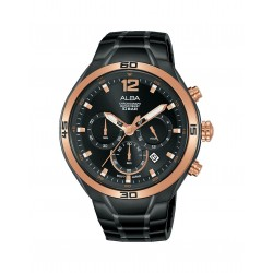 Alba 44mm Chronograph Gents Metal Casual Watch (AT3F76X1)