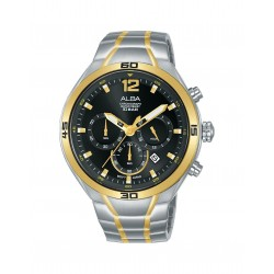 Alba 44mm Chronograph Ladies Gents Casual Watch (AT3F78X1)