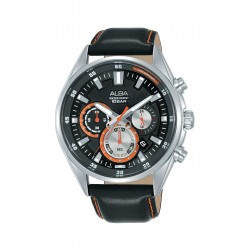 Alba 44mm Chronograph Gents Leather  Watch (AT3F97X1)