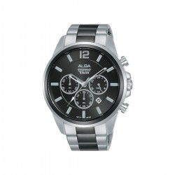 Alba 44mm Chronograph Gents Casual Metal Watch (AT3G09X1) - Silver