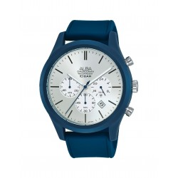 Alba 44mm Chronograph Gents Leather Casual Watch (AT3G29X1)