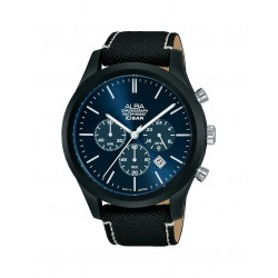 Alba 44mm Chronograph Gents Fabric Casual Watch (AT3G35X1)