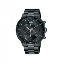 Alba 43mm Chronograph Gents Casual Metal Watch (AW4001X1) - Black
