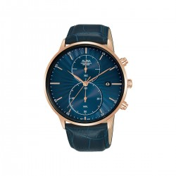 Alba 43mm Chronograph Gents Casual Leather Watch (AW4010X1) - Blue