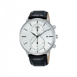 Alba 43mm Chronograph Gents Casual Leather Watch (AW4011X1)  - Black