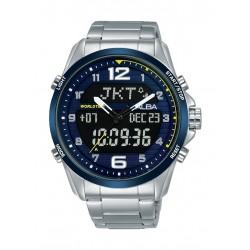 Alba 44mm Quartz Analog Men's Metal Watch (AZ4069X1) - Silver