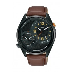 Alba 43mm Gents Analog Fashion Leather Watch - (AZ9023X1)