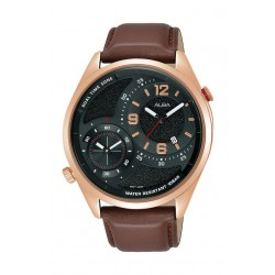 Alba 43mm Gents Analog Fashion Leather Watch - (AZ9024X1)